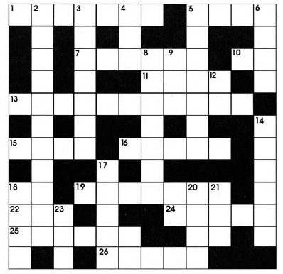 -Travel Crossword-