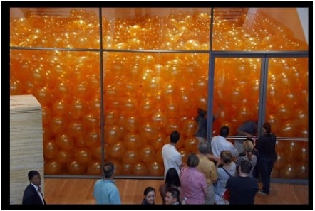 50 people were asked to enter a room filled with balloons. They had an unexpected surprise.